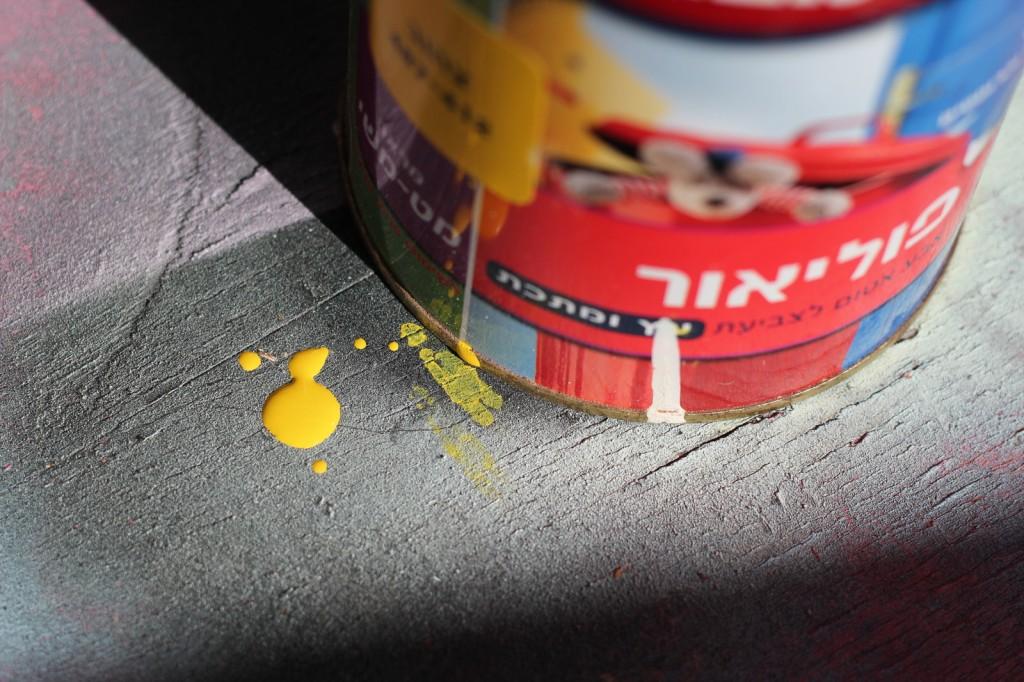 לצביעת הרגלים השתמשתי בצבע פוליאור שהיה לי בבית