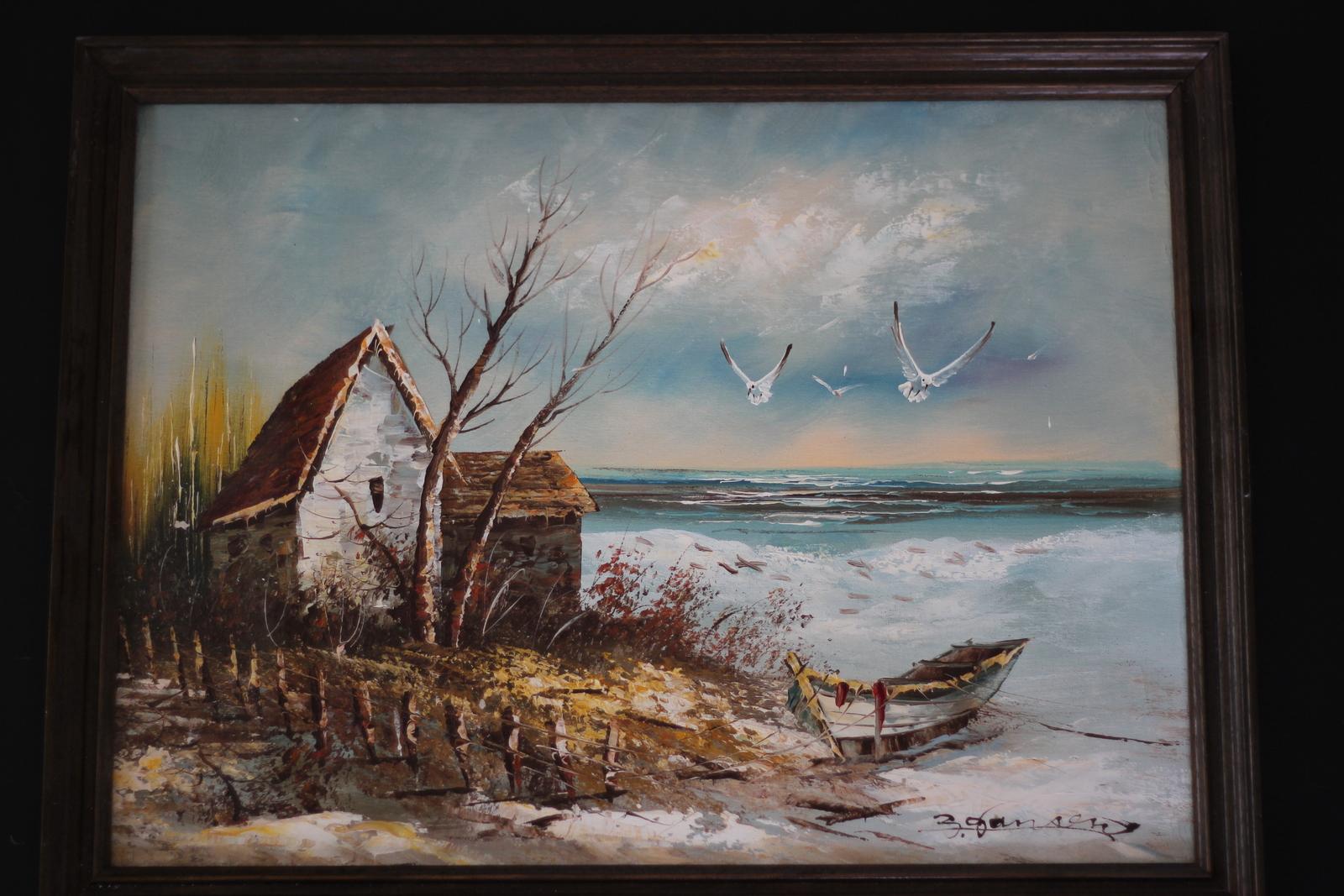 מצאתי במחסן ציור שלא היו לי כלפיו סנטימנטים ולא היה לי קשה להתחיל לצבוע אותו