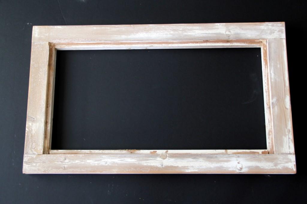 המסגרת לאחר שיוף של הצבע הישן ובליטות מיותרות