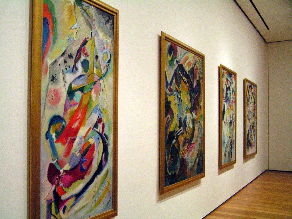 ציורים של קנדינסקי שצילמתי בסיור מרגש ב- MOMA ניו יורק. צילום: לירון גונן.