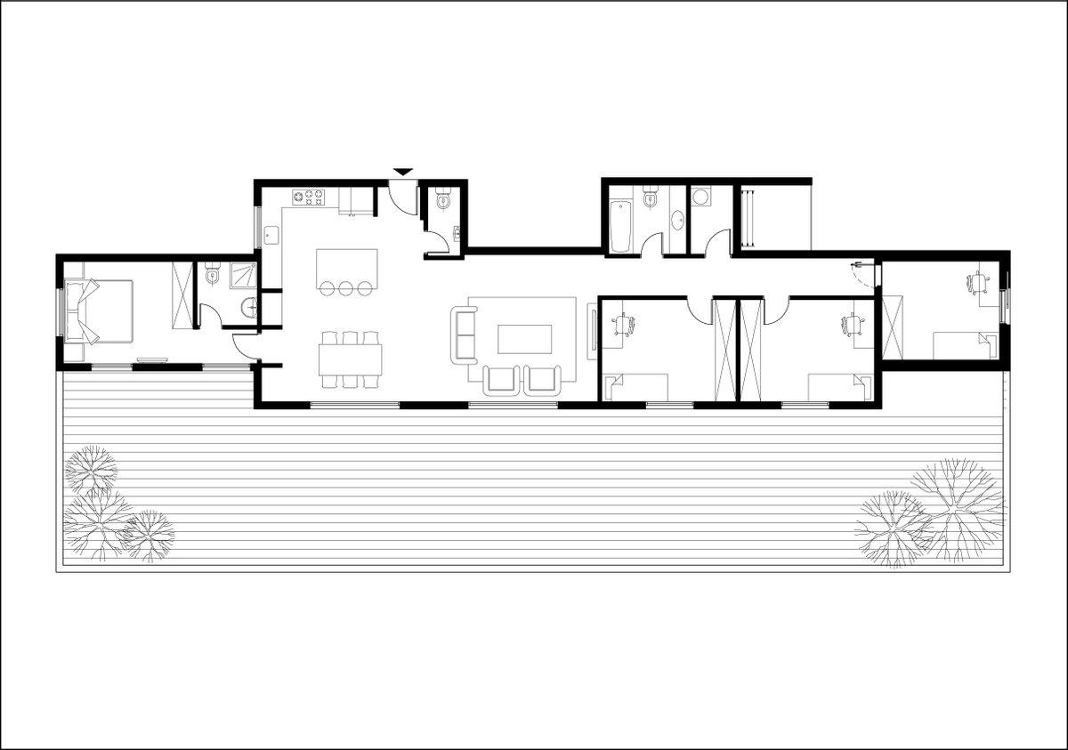תכנית הדירה לפני שינויים