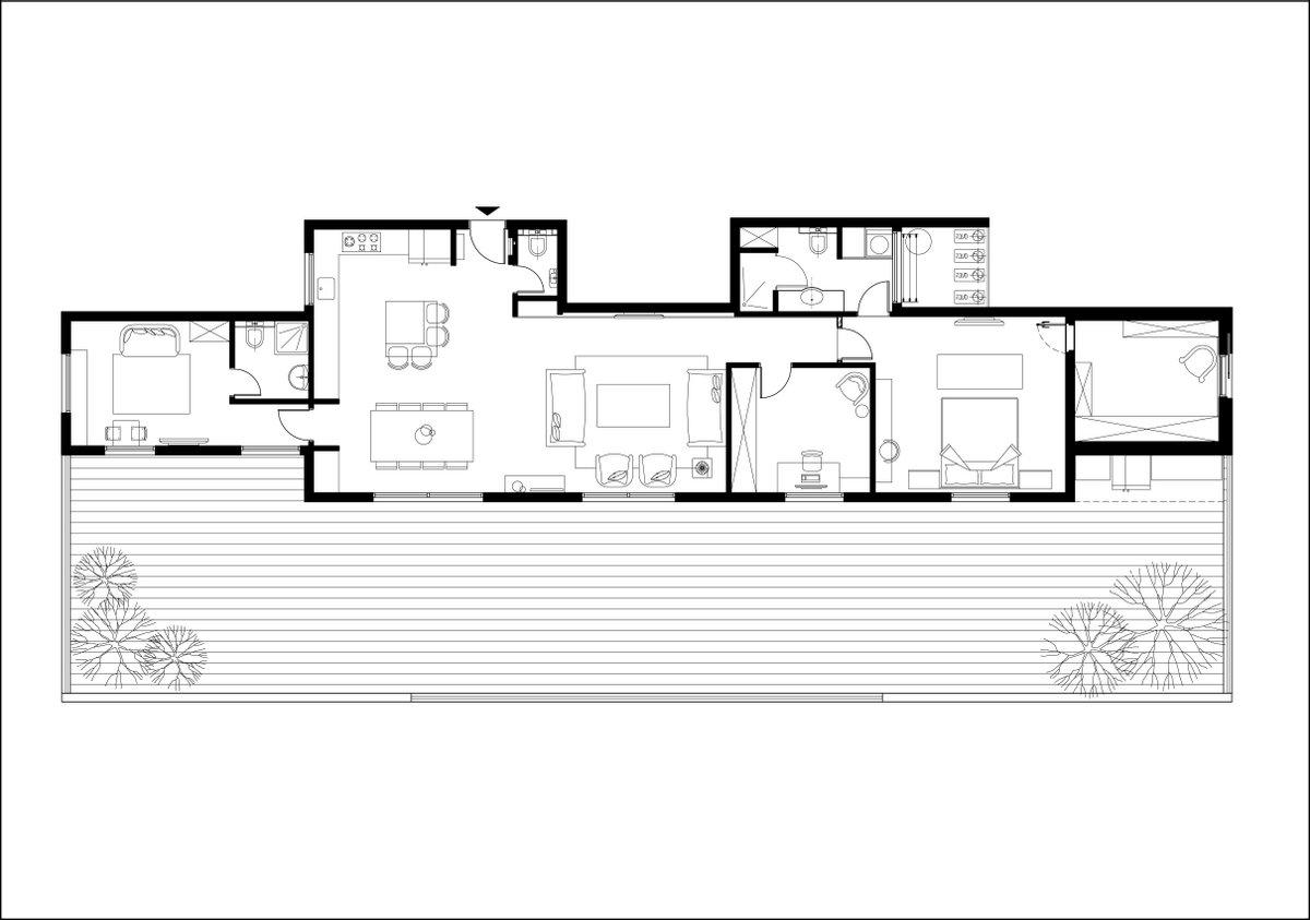 תכנית הדירה לאחר שינויים