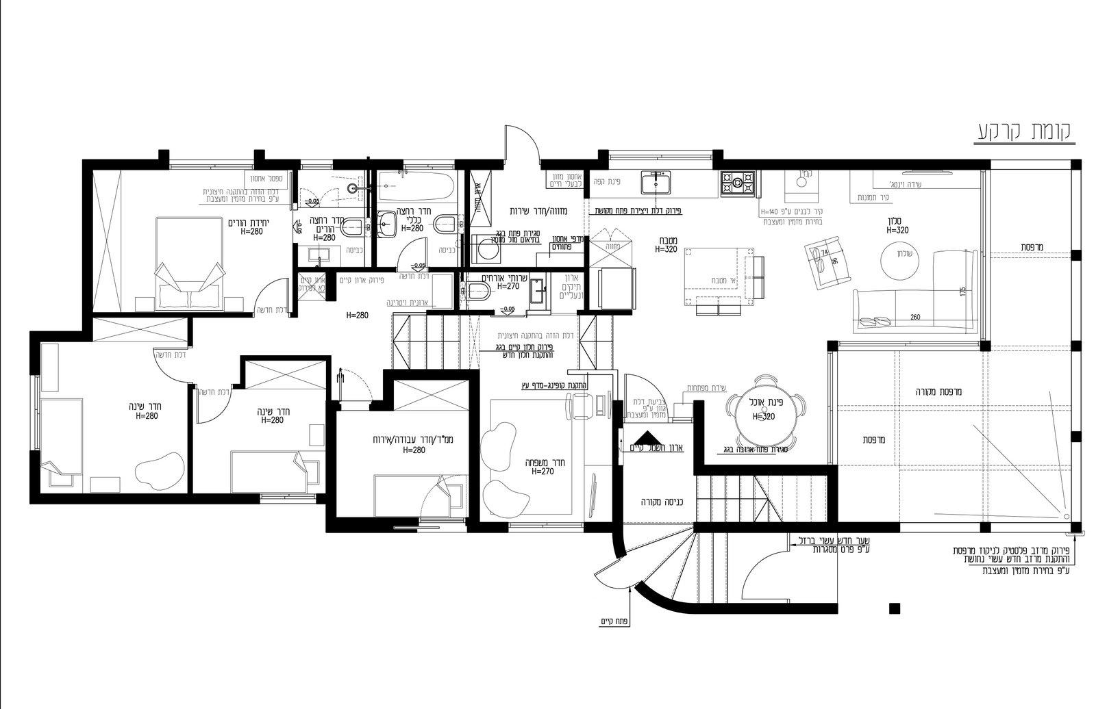 בית - קומת קרקע תכנית ריהוט-001