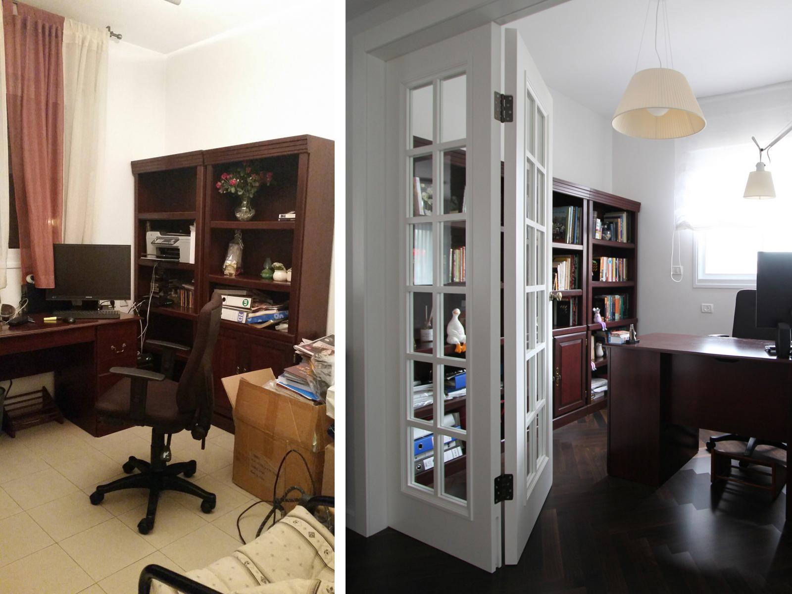 לפני ואחרי חדר עבודה עיצוב וצילום לירון גונן