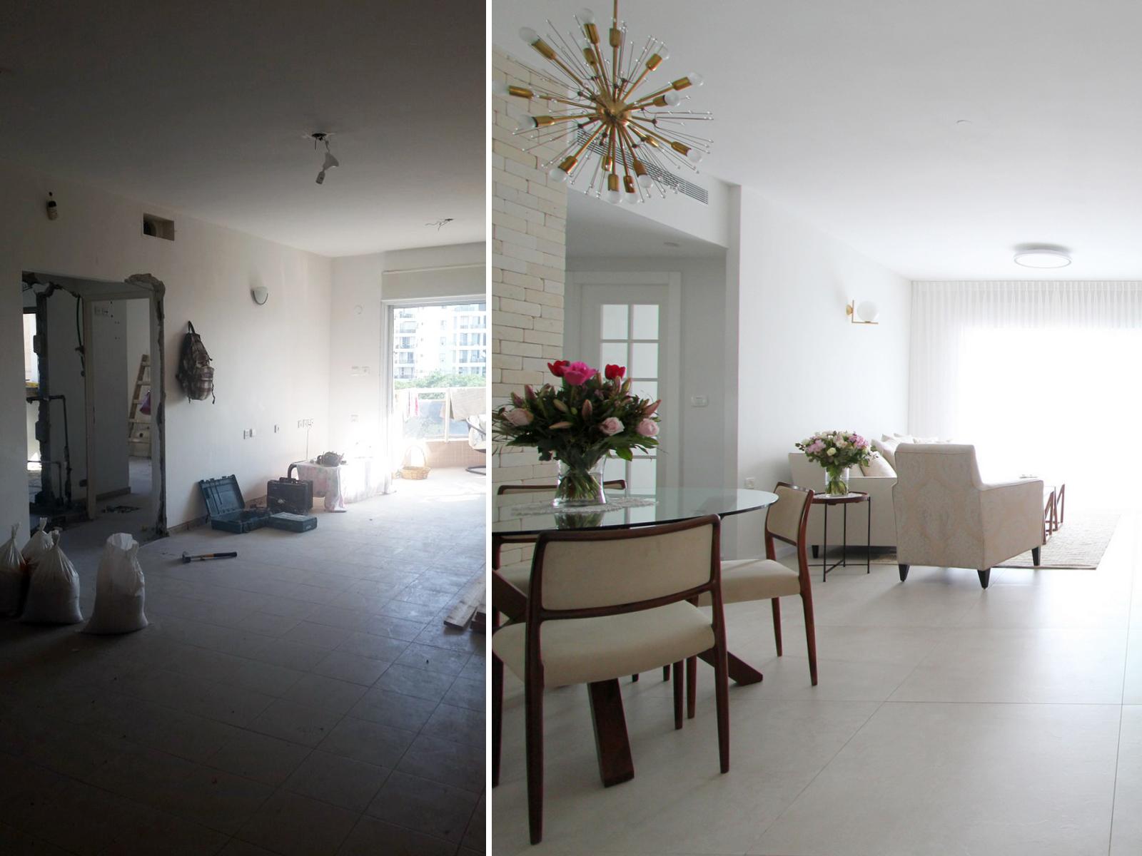 לפני ואחרי חלל ציבורי עיצוב וצילום לירון גונן