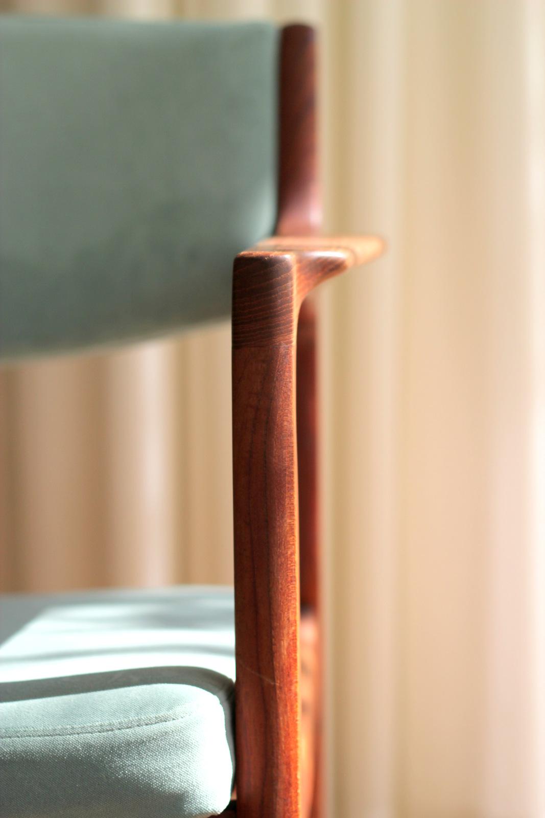 בוהו מודרני כסא דניש ריפוד קטיפה וינטג' רהיטים