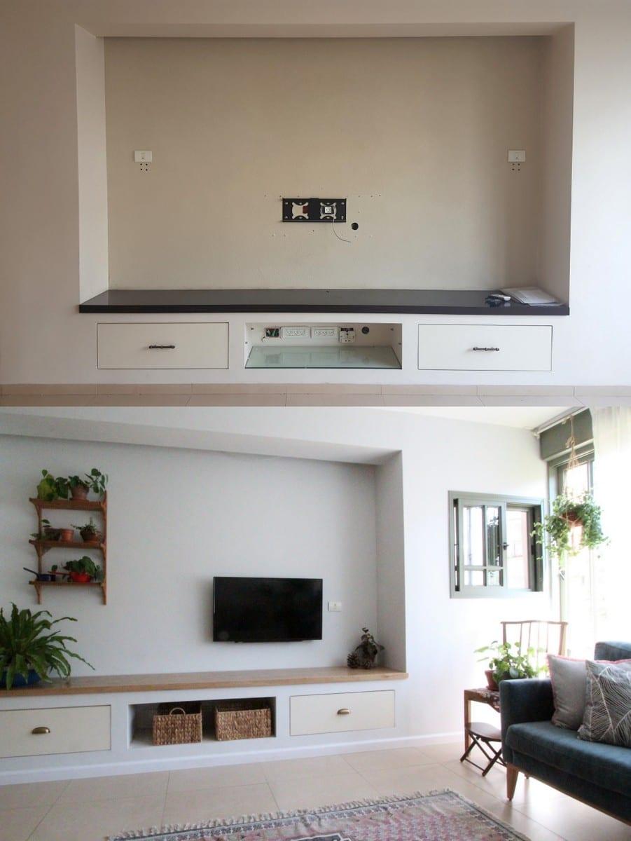 עיצוב קיר טלוויזיה, נישת גבס