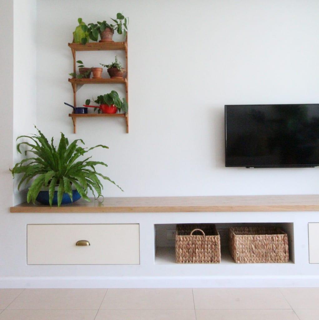 צמחי בית, עיצוב נישת גבס, מדפים